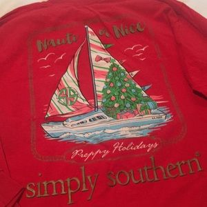 Simply Southern holiday Tee. NWOT
